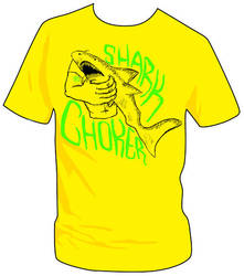 Shark Choker Tee Design by ZzapFinito