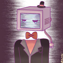 crying television-microwave gentleman by pikapaty