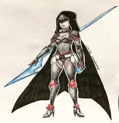 Inktober day 22-Warrior/Knight Witch by MESS-Anime-Artist