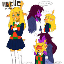 Noelle Deltarune by MESS-Anime-Artist