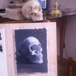 Skull Painting by emilio-rizzo