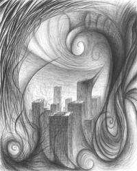 The Unsuspecting City by FifthSeasonArt