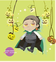 HAPPY HALLOWEEN FROM BLAISE!!! by chiyonosu