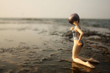 Nagato On The Beach by Karidzka