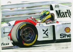 Ayrton Senna, McLaren MP4/8-Ford 1993 by Leotrek