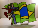 Stained glass ballroom samba dancers by Spectral1um