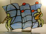 *Cool* Jazz Stained Glass Clef by Spectral1um