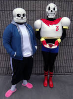 Sans and Papyrus Cosplay by Proto012