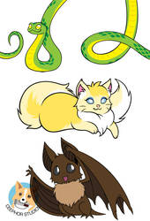 Cutie Creatures Designs by NotJailBait