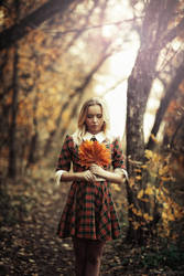 Girl in the forest by karen-abramyan