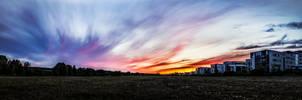 A Panoramic Finnish Evening by okhascorpio