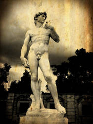 Forest Lawn Cemetery - Michelangelo's David by RavenA938