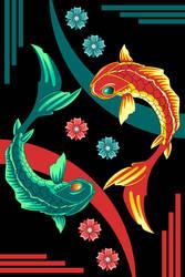 tao koi fish by sailorsaturn78