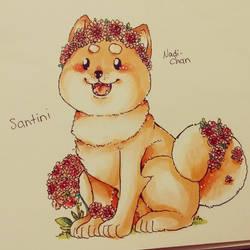 Flower Shiba Inu by Nadi-Chan