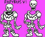 Undertale Papyrus Sprites V1 by TODY-BOX