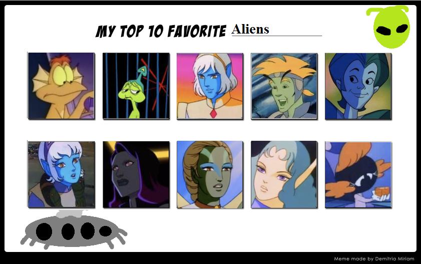 My Top 10 Favorite Aliens by Dawalk86