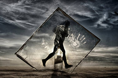 Black Label in Black Square by ahermin