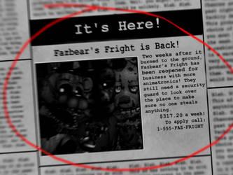 ..:Fazbear Reborn Newspaper:.. by lllRafaelyay