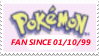 PKMN Fan Since 01.10.99 Stamp by laprasking