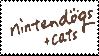 Nintendogs + Cats Stamp by laprasking