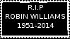 R.I.P Robin Williams Stamp by laprasking