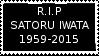 R.I.P Satoru Iwata by laprasking