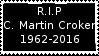 R.I.P C. Martin Croker Stamp by laprasking