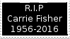 R.I.P Carrie Fisher Stamp by laprasking