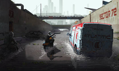 Two Bikers and a Van by yar0
