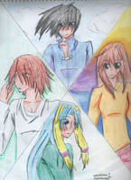 Kie, Hayto, Azura, Feara by shadowknightpaladin