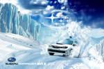 Subaru - Born to Rally In the Snow by LeonardoEnrique