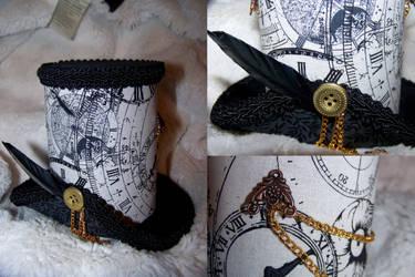 Steampunk Clock Hat by ADreamersImagination