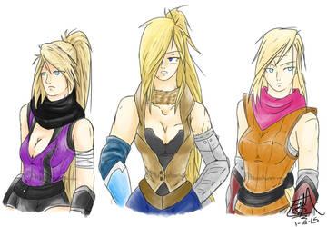 Three Xeniessian Women by PheonixAurora
