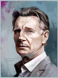 Liam Neeson by ladunya