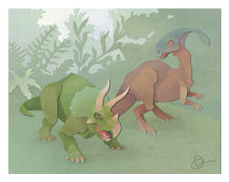 Dinosaurs by WonderDookie