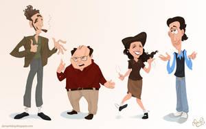 Seinfeld Cast by WonderDookie