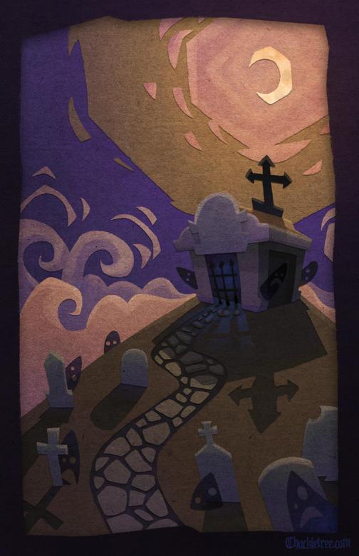 Halloween Graveyard by WonderDookie