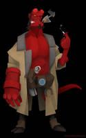 BPRD - Hellboy by WonderDookie