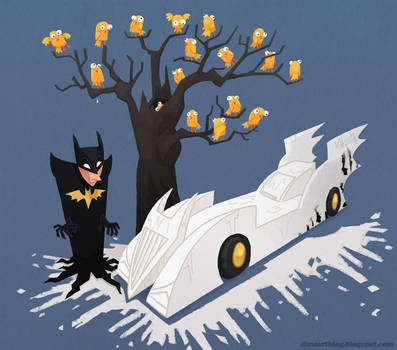 Batmobile White Out by WonderDookie