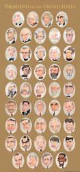 Presidential Portraits by WonderDookie