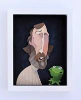 Jim Henson Portrait Painted by WonderDookie
