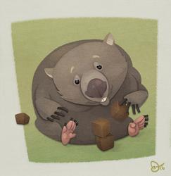 Wombat by WonderDookie