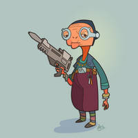 M is for Star Wars (Maz Kanata) by WonderDookie