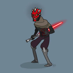 M is for Star Wars (Darth Maul) by WonderDookie