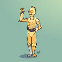 C is for Star Wars (C3PO) by WonderDookie