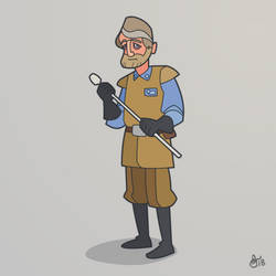 C is for Star Wars (General Crix Madine) by WonderDookie