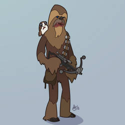 C is for Star Wars (Chewbacca) by WonderDookie