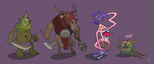 Warhammer Chaos Units Lineup by WonderDookie