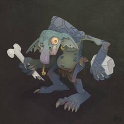 Stone Troll by WonderDookie