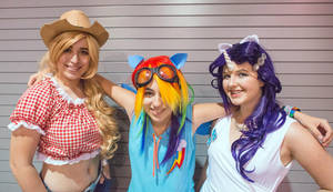 MLP Cosplay Hanging out with the Girls by BlueJay-Cosplay